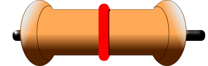 Resistor with color band
