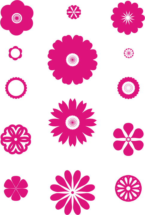 A set of flowers