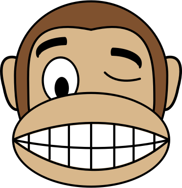 Monkey Emoji - Wink Face