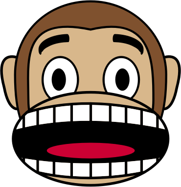 Monkey Emoji - Fearful