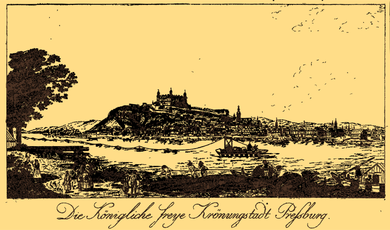 The Royal Free Crown City Bratislava in 1787