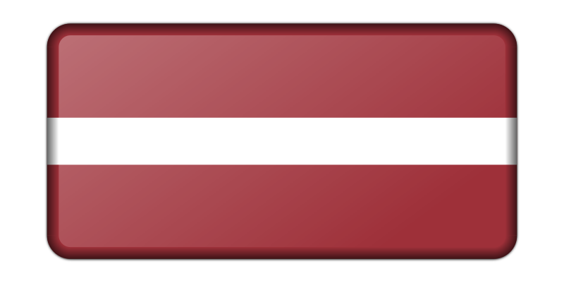 Latvia flag (bevelled)