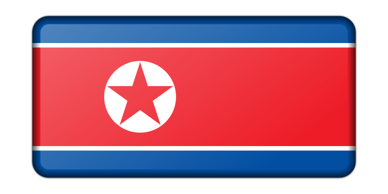 North Korea flag (bevelled)