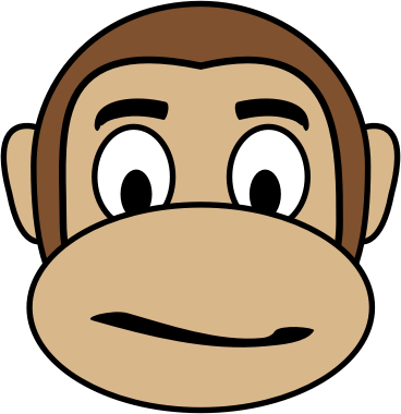 Monkey Emoji - Confused