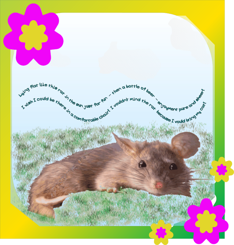 Disturbed Rat Idyll Framed