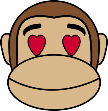 Monkey Emoji - In love