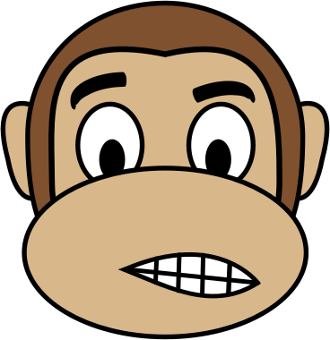 Monkey Emoji - Dissatisfied