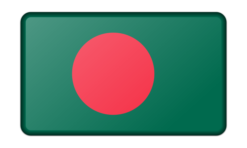 Flag of Bangladesh (bevelled)