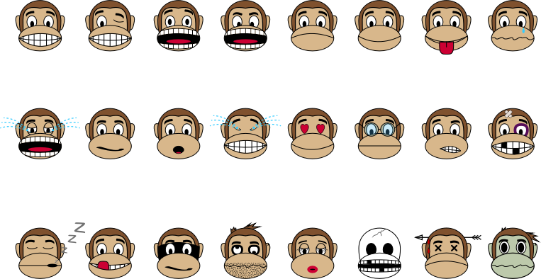 Monkey Emoji - Collection