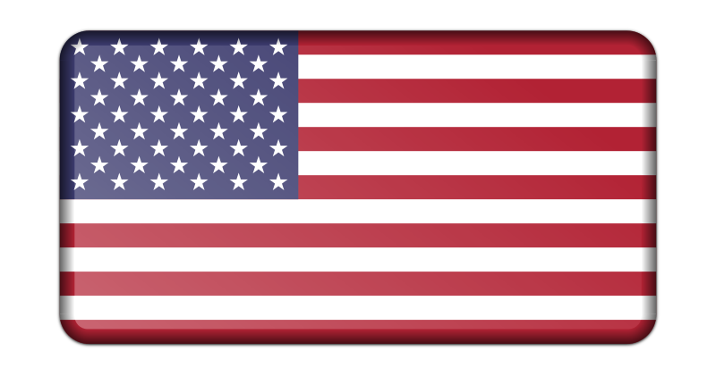 Flag of USA (bevelled)