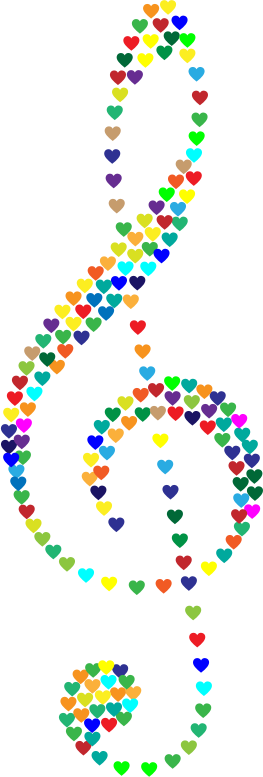 Prismatic Clef Hearts No Background