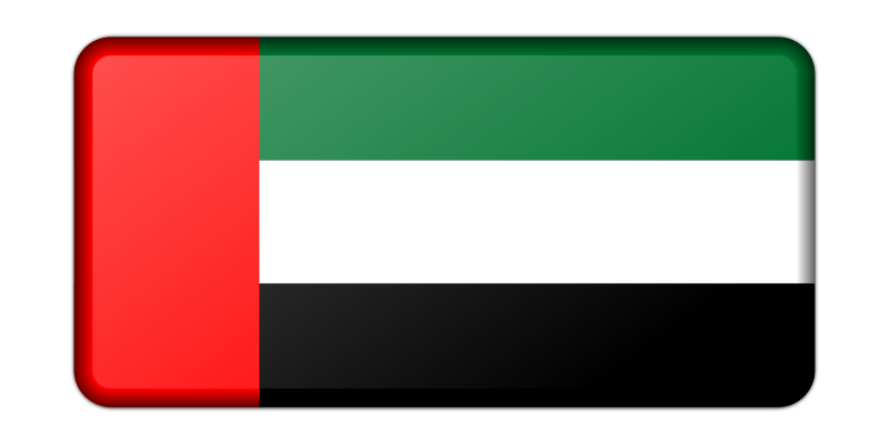 Flag of United Arab Emirates (bevelled)