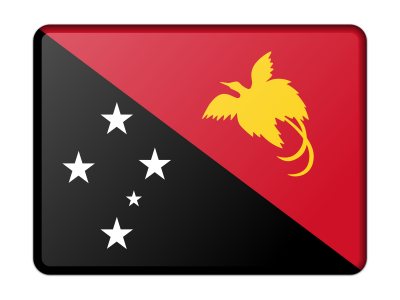 Flag of Papua New Guinea (bevelled)
