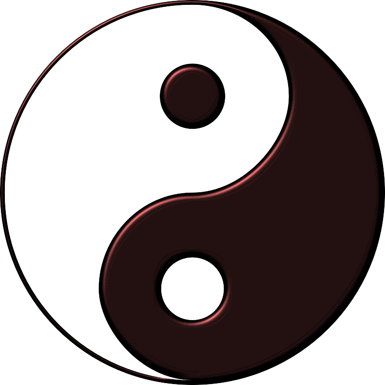 Yin-Yang in Red