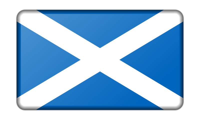Flag of Scotland (bevelled)