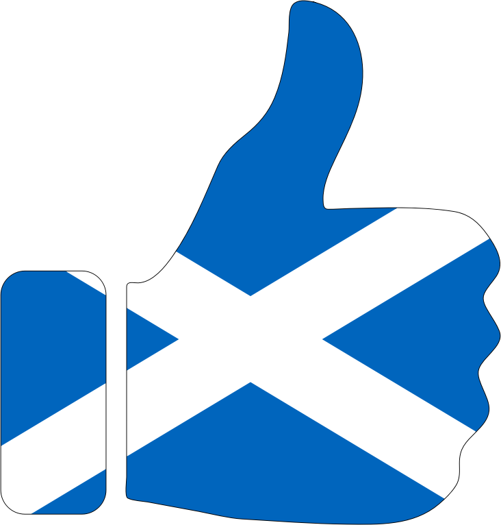 Thumbs Up Scotland With Stroke