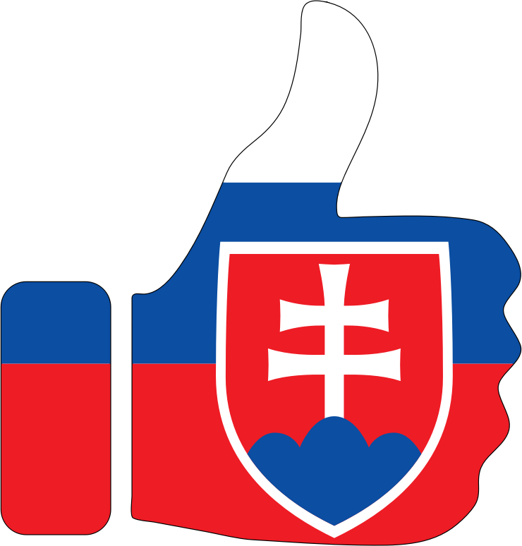 Thumbs Up Slovakia With Stroke