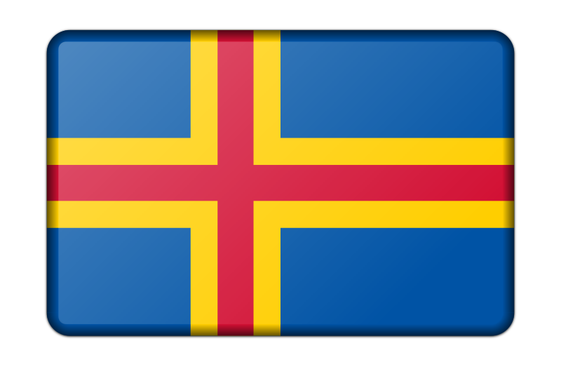 Flag of Aland (bevelled)