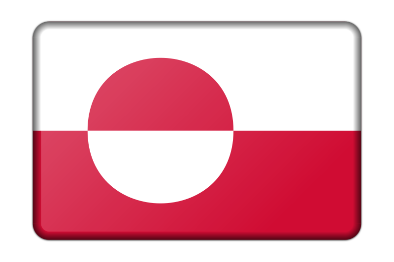 Flag of Greenland (bevelled)