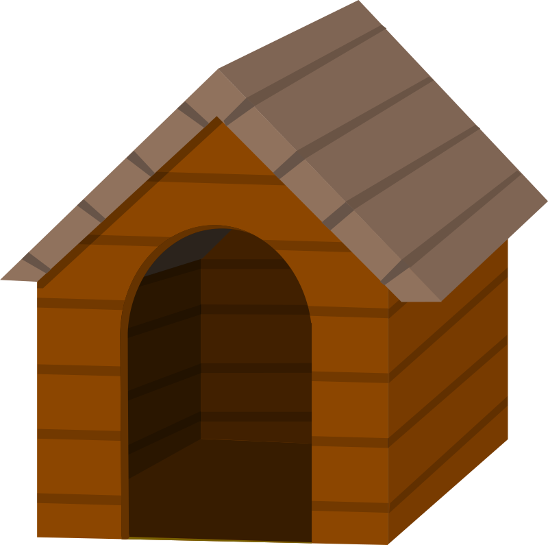 Brown doghouse
