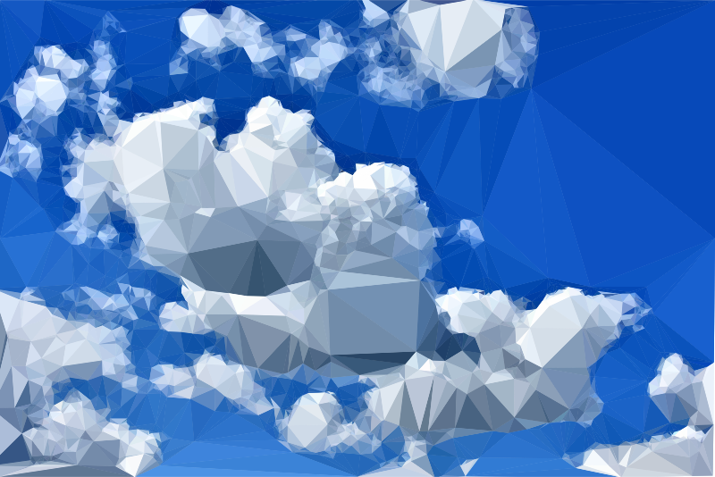 Low Poly Blue Sky