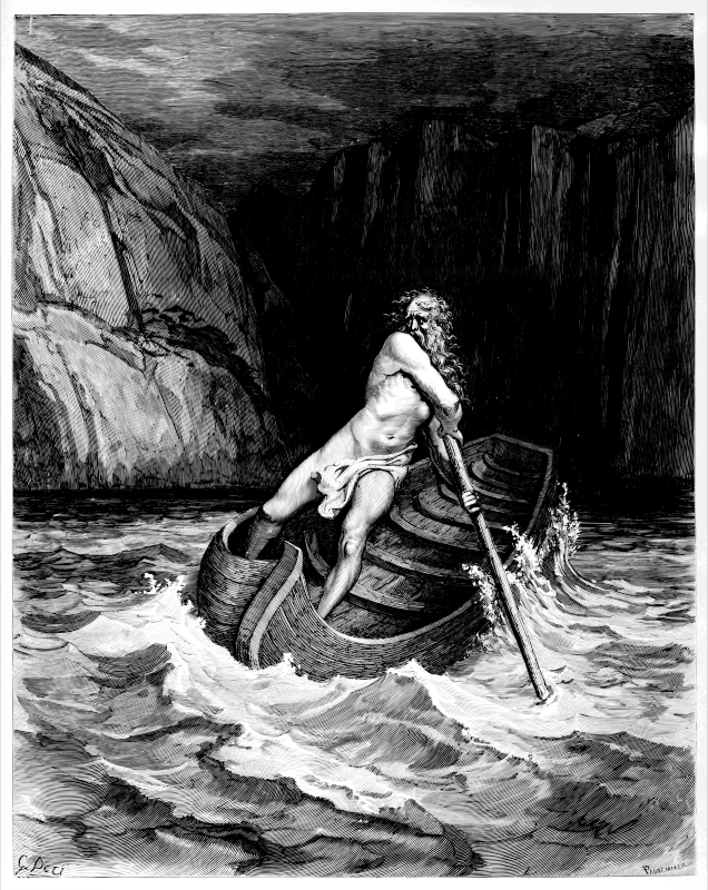Charon, by Doré 1857