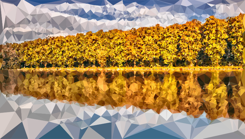 Low Poly Tangerine Lake