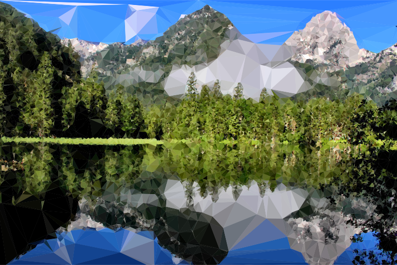 Low Poly Mountain Lake