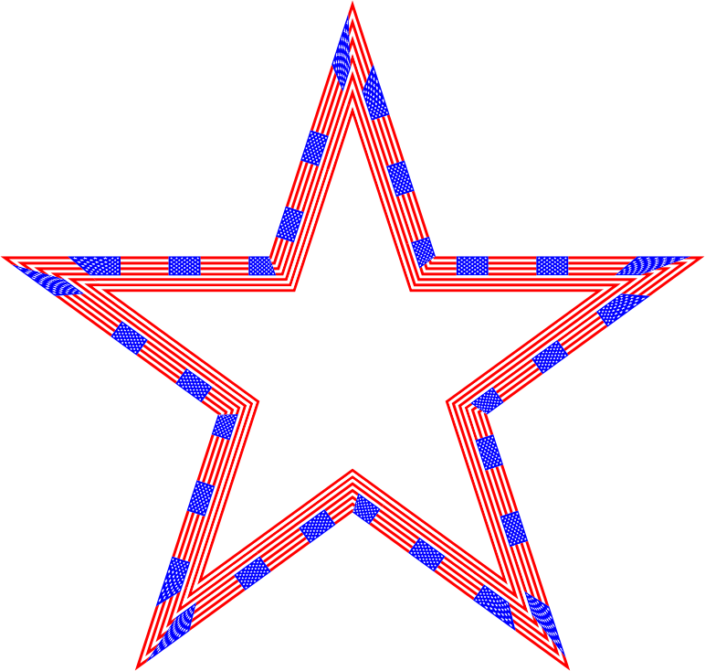 USA Flag Star