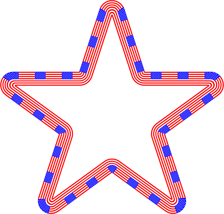 USA Flag Star Variation 2