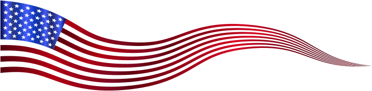 Wavy USA Flag Banner Variation 2