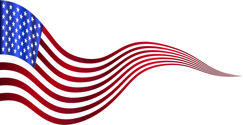 Wavy USA Flag Banner 2 Variation 2