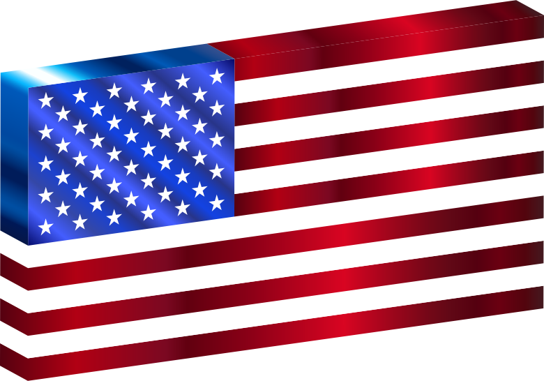 3D USA Flag Variation 2