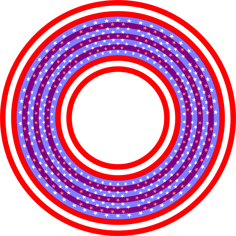 Stars And Stripes Circle
