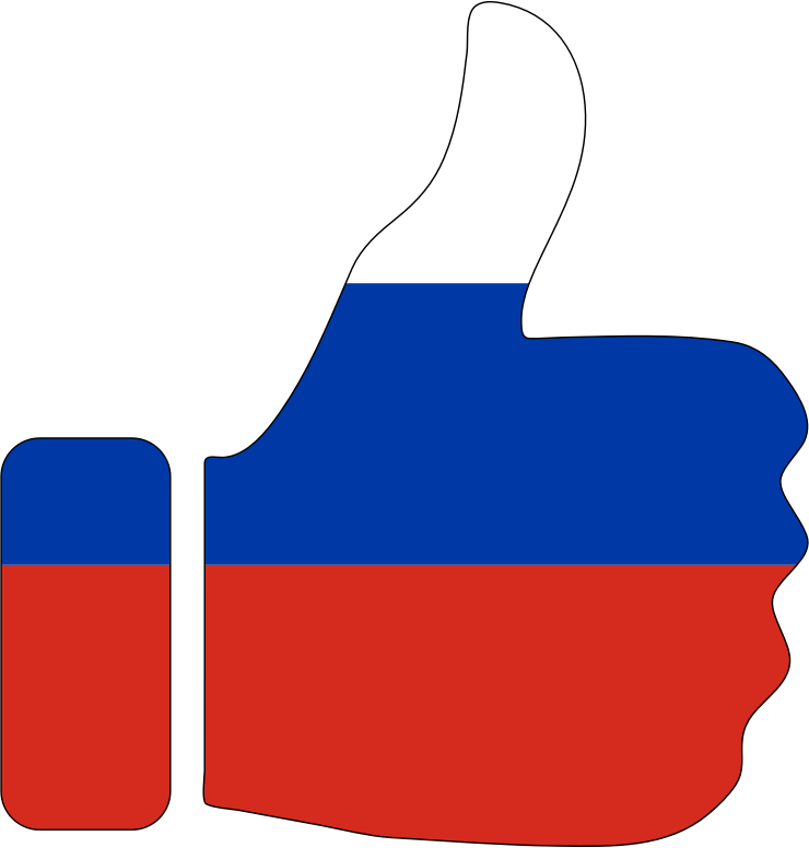 Thumbs Up Russia With Stroke