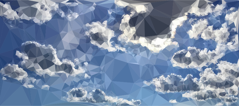 Low Poly Blue Sky 2