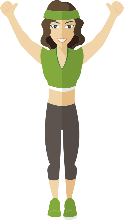 Flat Shaded Fitness Woman