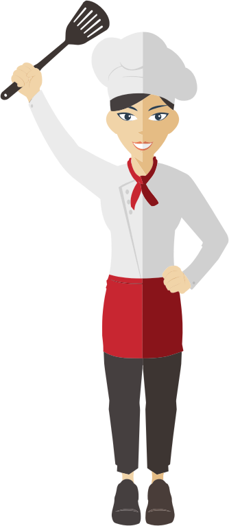 Flat Shaded Female Chef