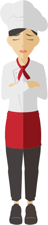 Flat Shaded Female Chef 2