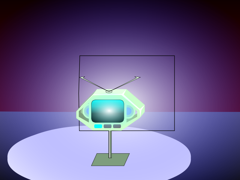 A012: A danger TV is put into the box again. (Animation)