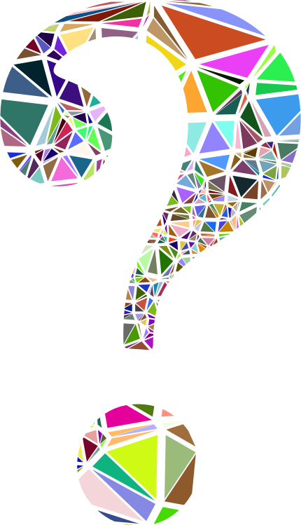 Low Poly Shattered Question Mark