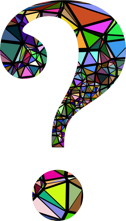 Low Poly Shattered Question Mark With Background