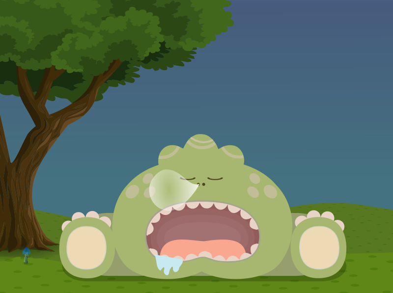 Cute sleeping monster from Glitch