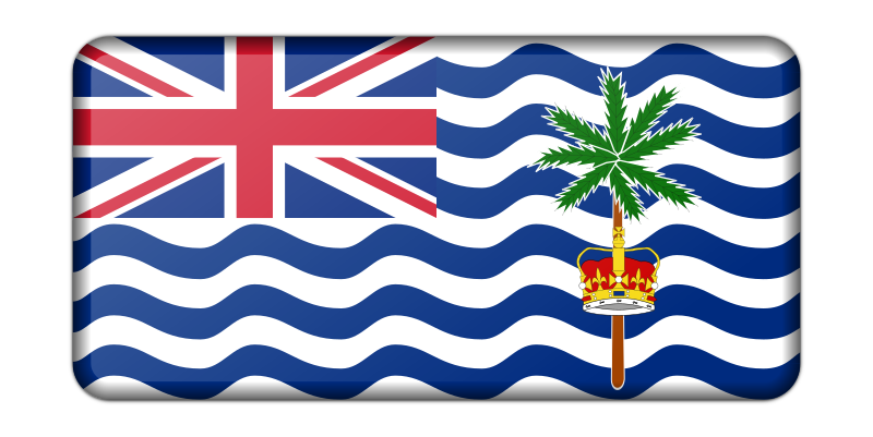 Flag of the British Indian Ocean Territory (bevelled)