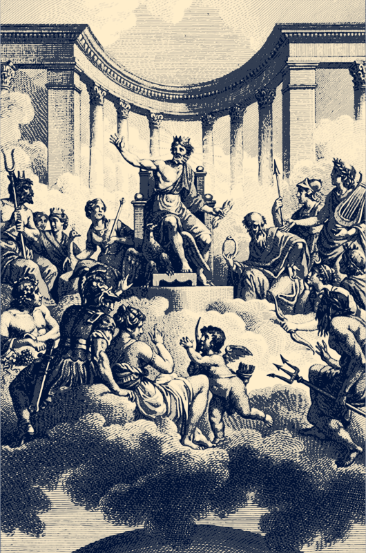 The Twelve Olympians, by Nicolas-André Monsiau (1754-1837)