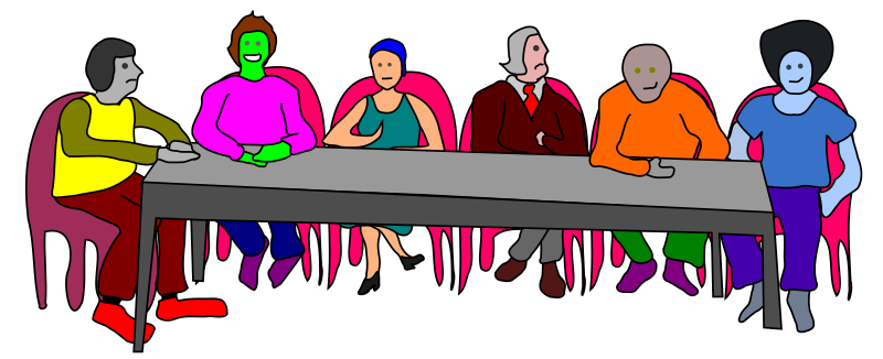 Meeting Table - colorful