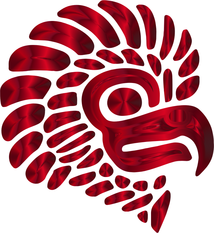 Prismatic Stylized Mexican Eagle Silhouette 6