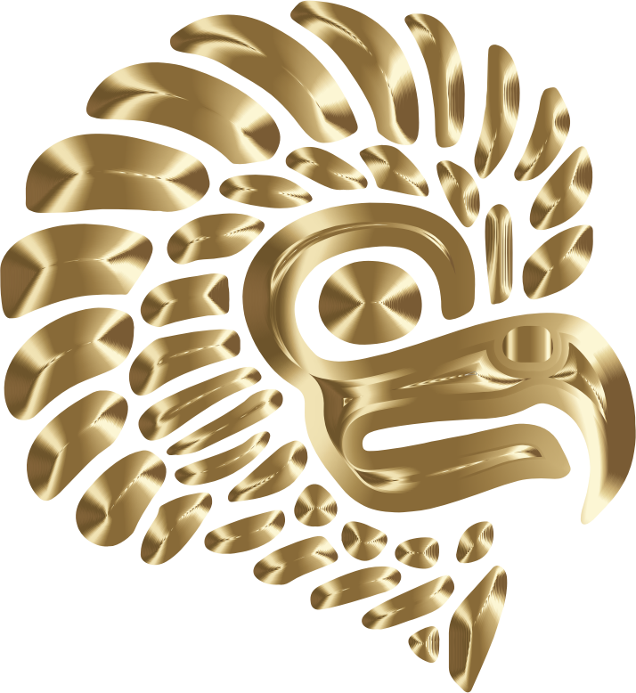 Prismatic Stylized Mexican Eagle Silhouette 7