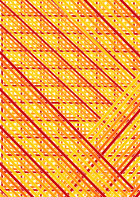 red orange lines across double diagonal