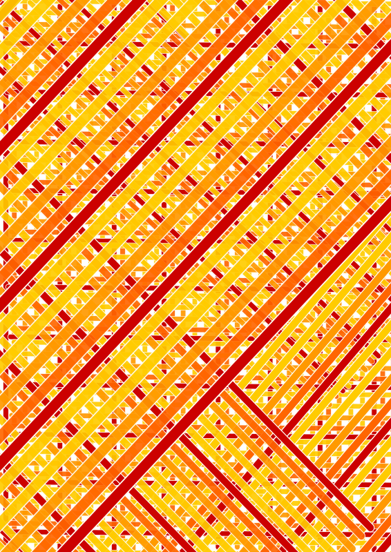 red orange lines complete across double diagonal